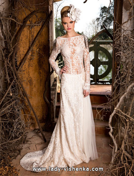Wedding dresses with lace sleeves photos Jordi Dalmau