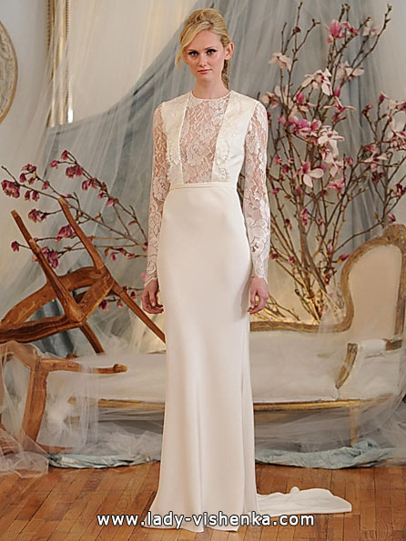 Wedding dresses with lace sleeves by Elizabeth Fillmore