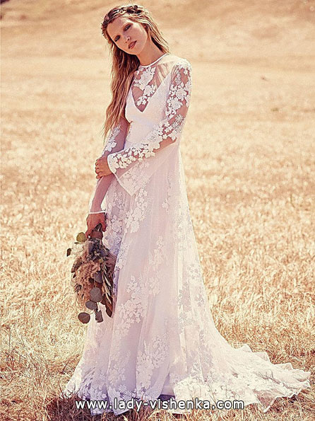 Wedding dresses with lace sleeves Free People